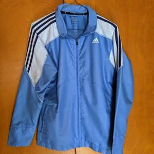 Adidas Blue/White Lightweight Windbreaker